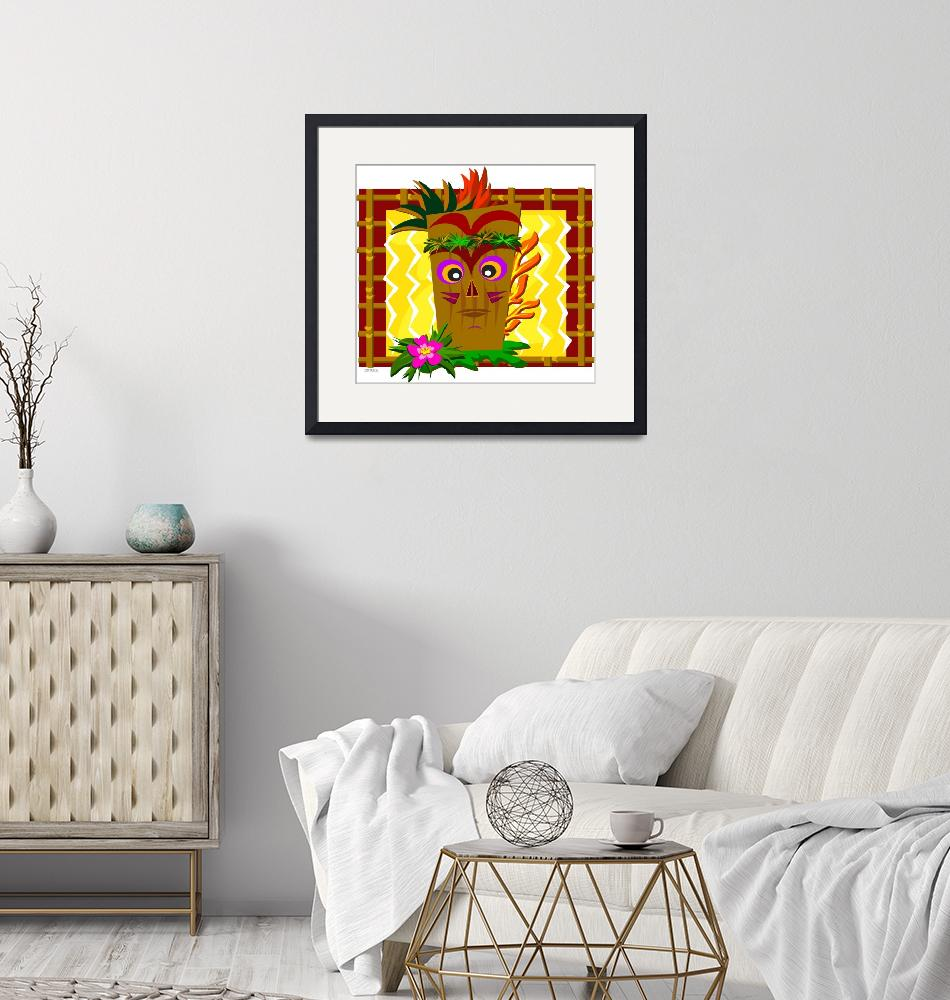 """""""Tiki Flames in a Bamboo Frame""""  (2011) by theblueplanet"""