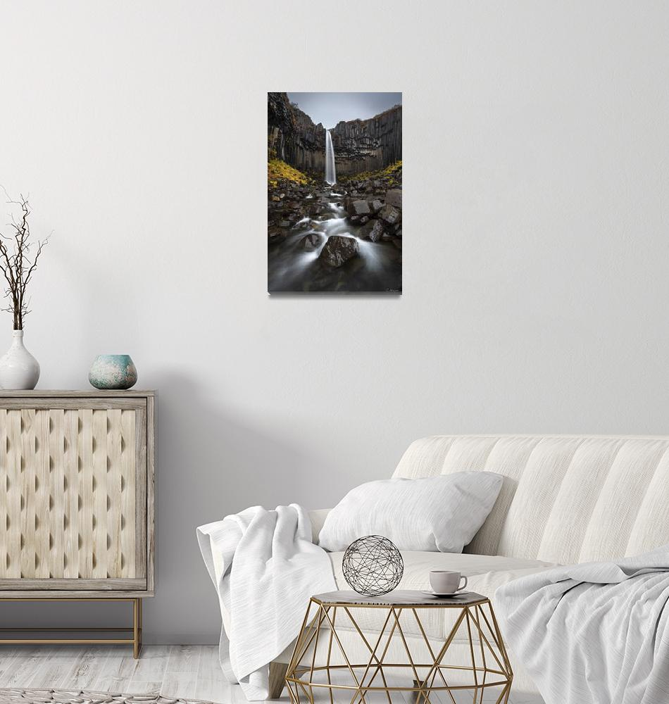 """Svartifoss Waterfall in Iceland by Cody York_115A3""  by cyorkphoto"