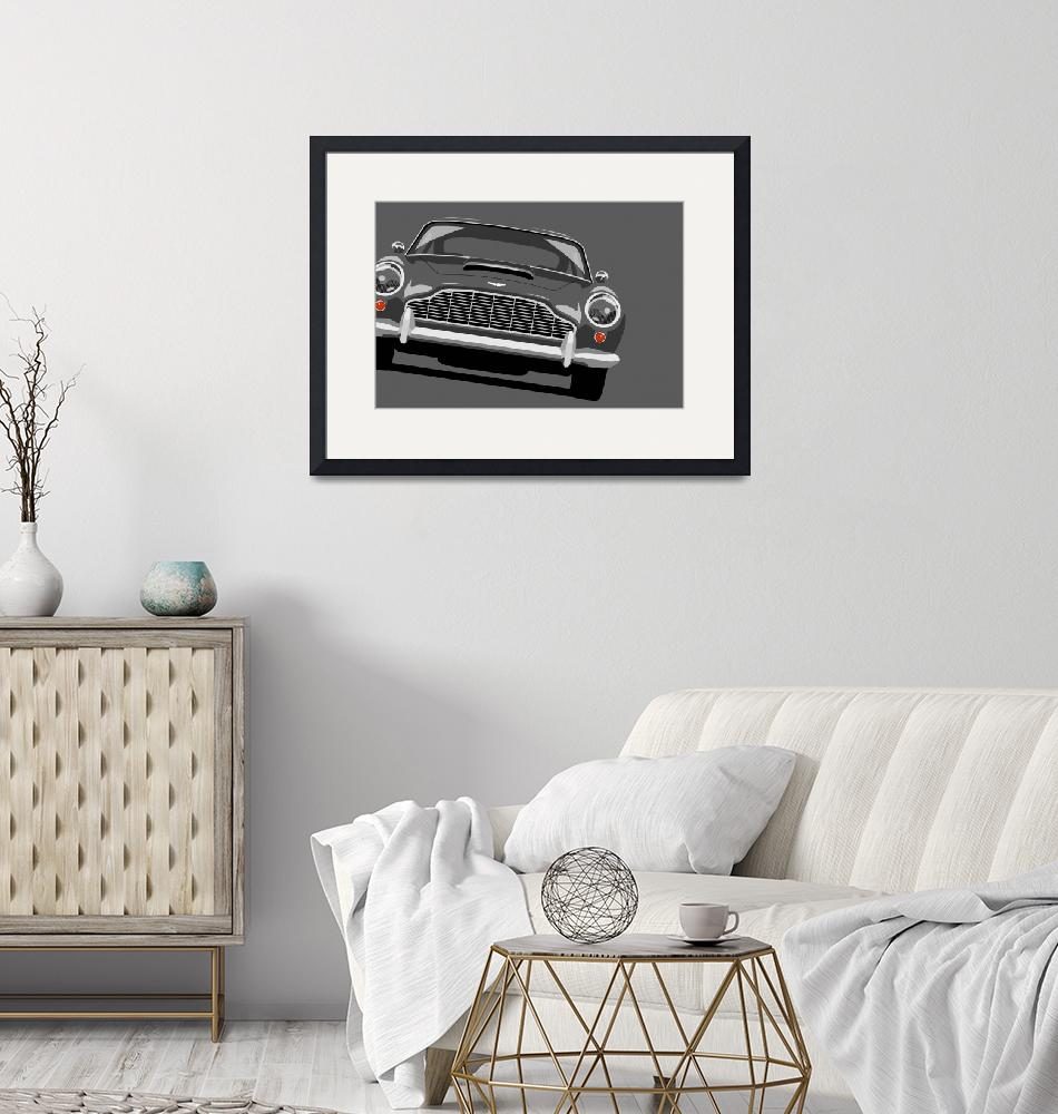 """Aston Martin DB5""  (2010) by ModernArtPrints"