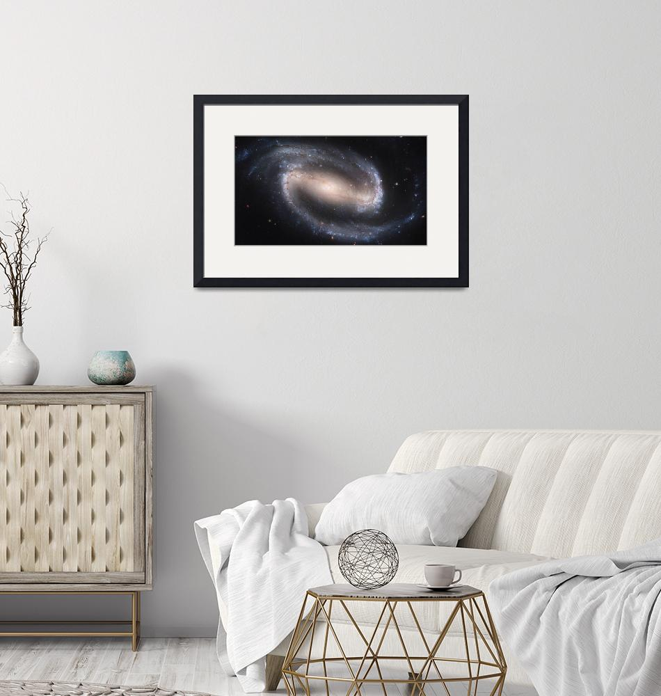 """""""Barred Spiral Galaxy NGC 1300""""  by stocktrekimages"""
