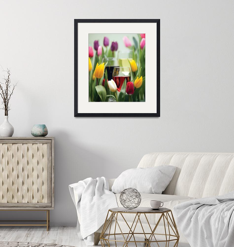 """""""Tulips and Wine""""  by winecountrycreations"""