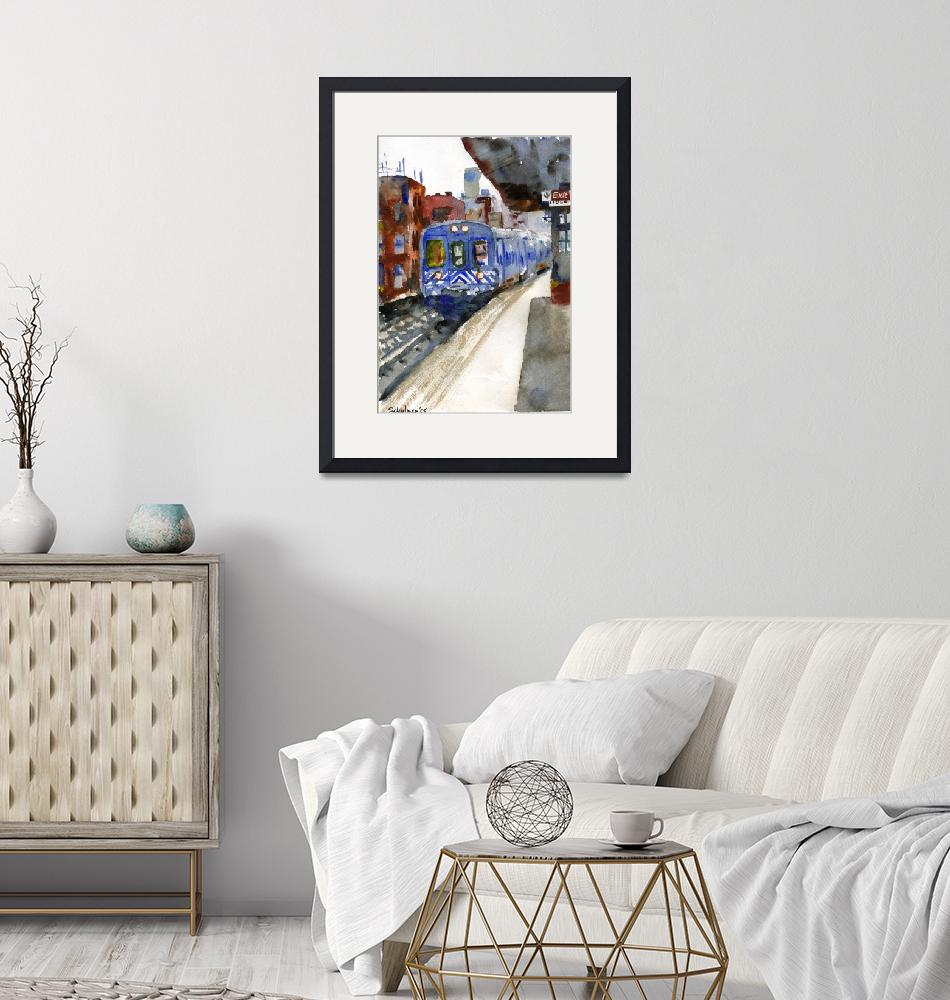 """Harlem Train""  (2008) by schulmanart"