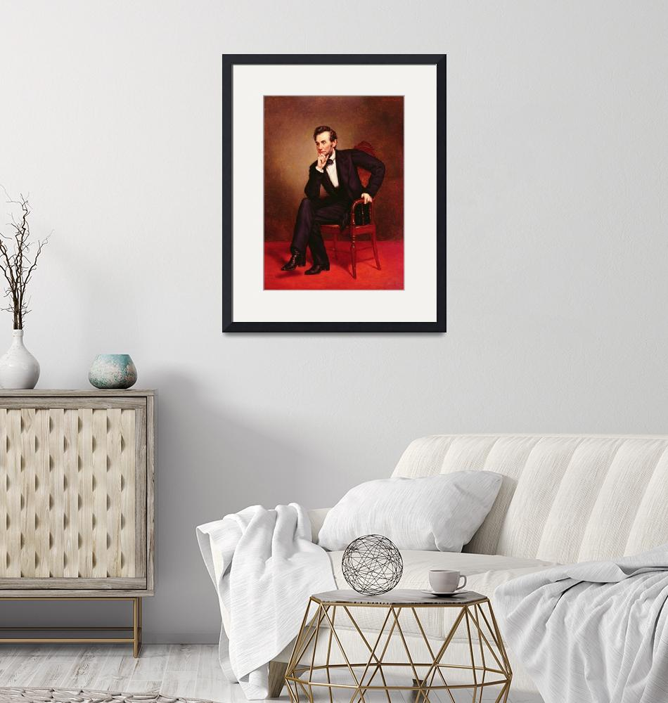 """""""Portrait of Abraham Lincoln (oil on canvas) by Geo""""  by fineartmasters"""