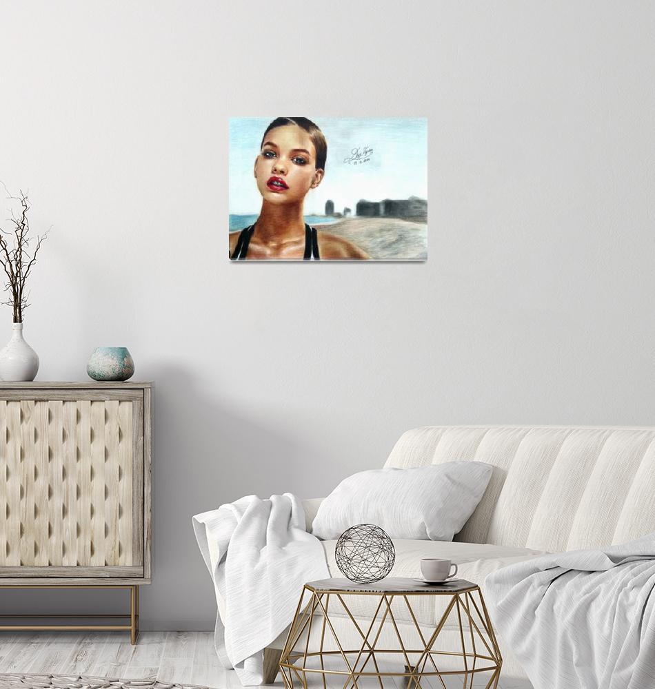 """Barbara Palvin portrait""  (2014) by uyenduyle"