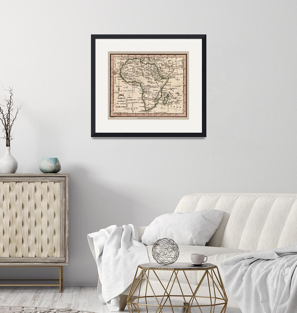"""""""Africa Antique Map 1798""""  (2020) by WilshireImages"""