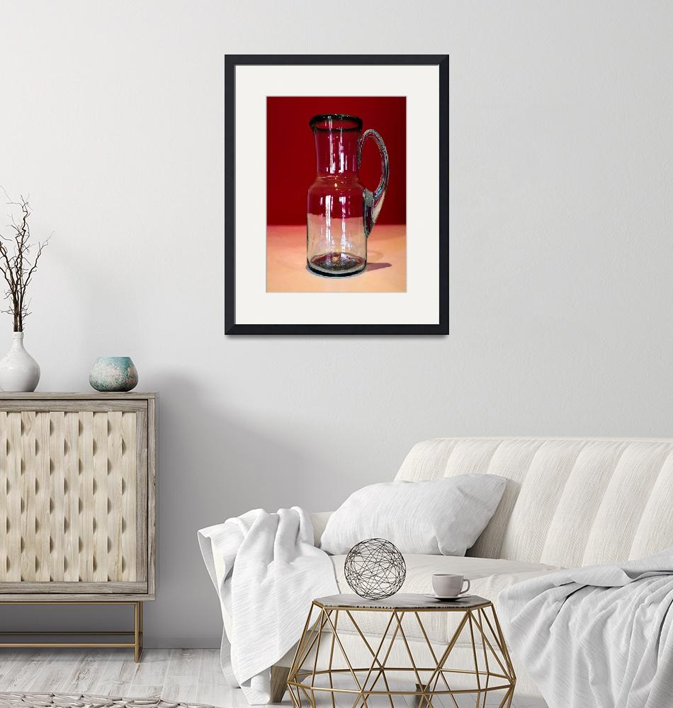 """""""Pitcher Picture in Red""""  (2017) by DenverArtEffects"""
