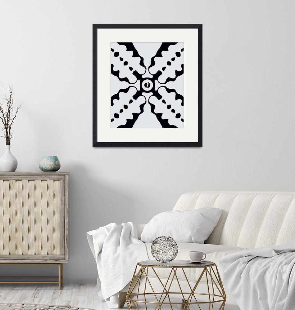 """Black and white abstract art""  by Adorehandcrafted"