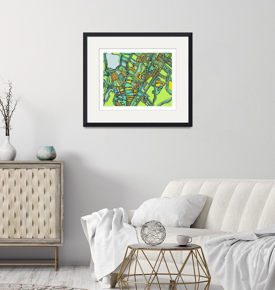 """""""Jamaica PLain 8x10 w border w sig and loc""""  by carlandcartography"""