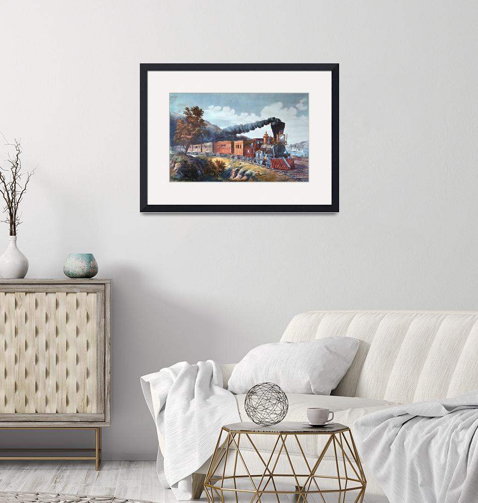 """""""Currier & Ives~American Express Train""""  by Old_master"""