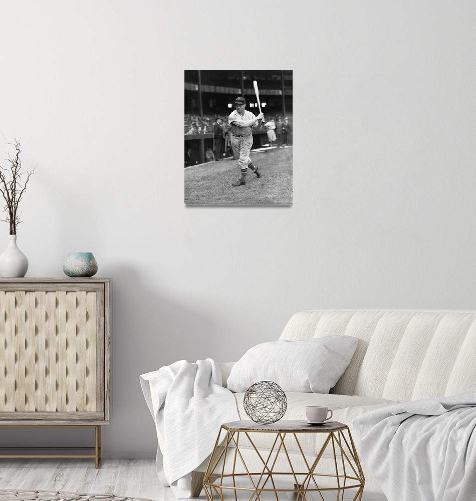 """Jimmie Foxx Red Sox batting""  by RetroImagesArchive"