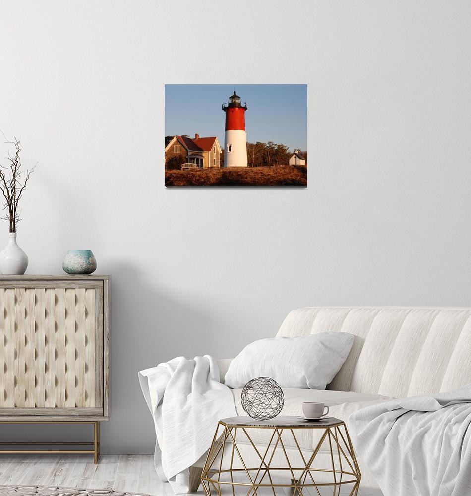 """Nauset Lighthouse-Eastham""  (2013) by SerenicArt"