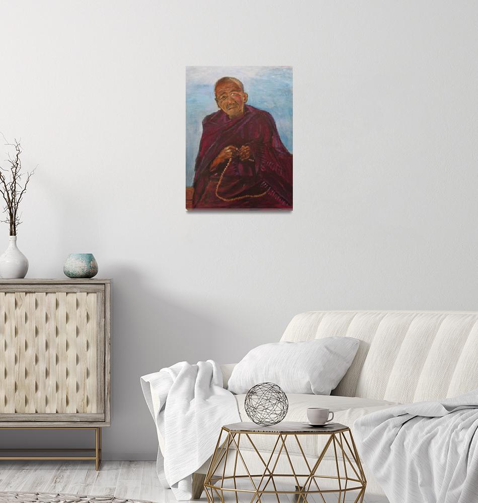"""Tibetan Monk""  (2008) by SusanWeinberg"