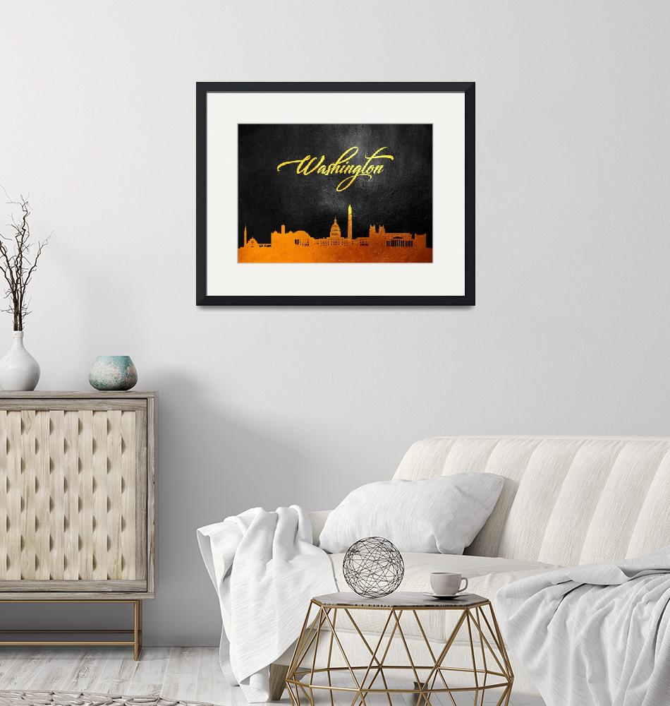 """""""Washington Gold Skyline""""  (2019) by ABConcepts"""