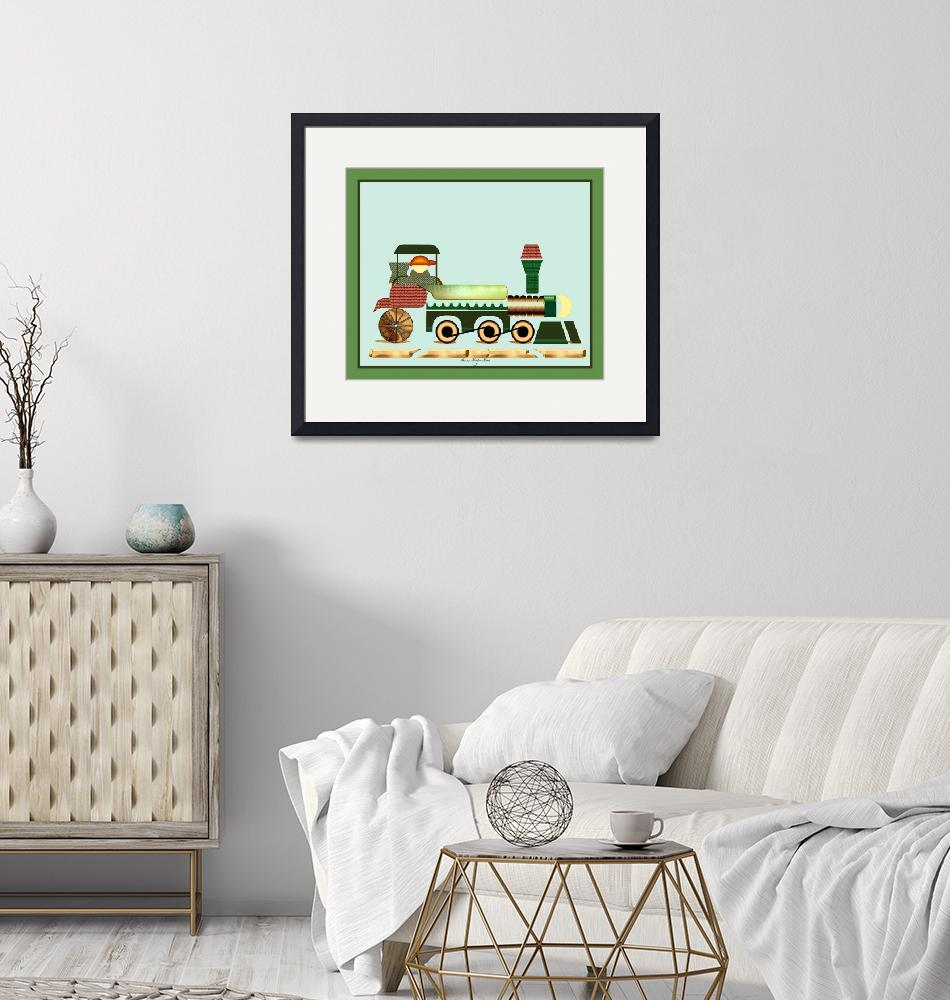 """""""Toot Toot Train 2""""  (2009) by SherryHolderHunt"""