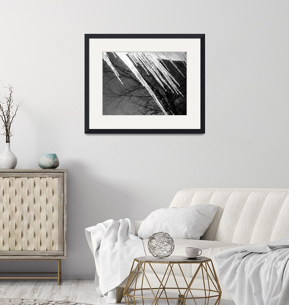 """""""Icicles in a black and white picture""""  by Swmr152974"""