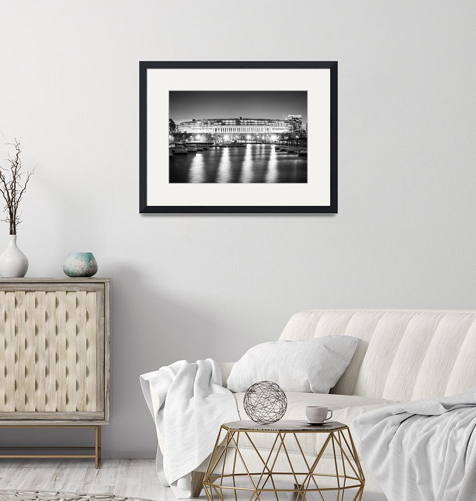 """""""Soldier Field in Black and White""""  (2017) by PaulVelgos"""