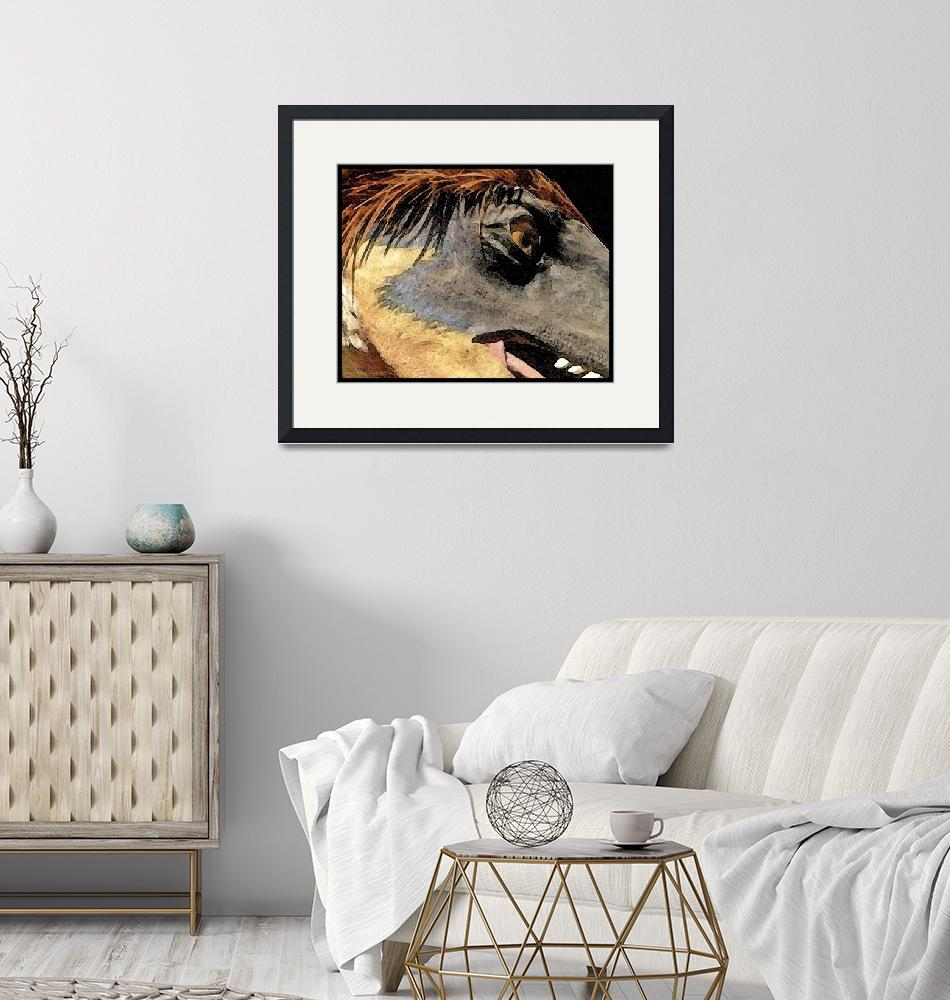 """Dinosaur Watercolor""  by HodlinGallery"