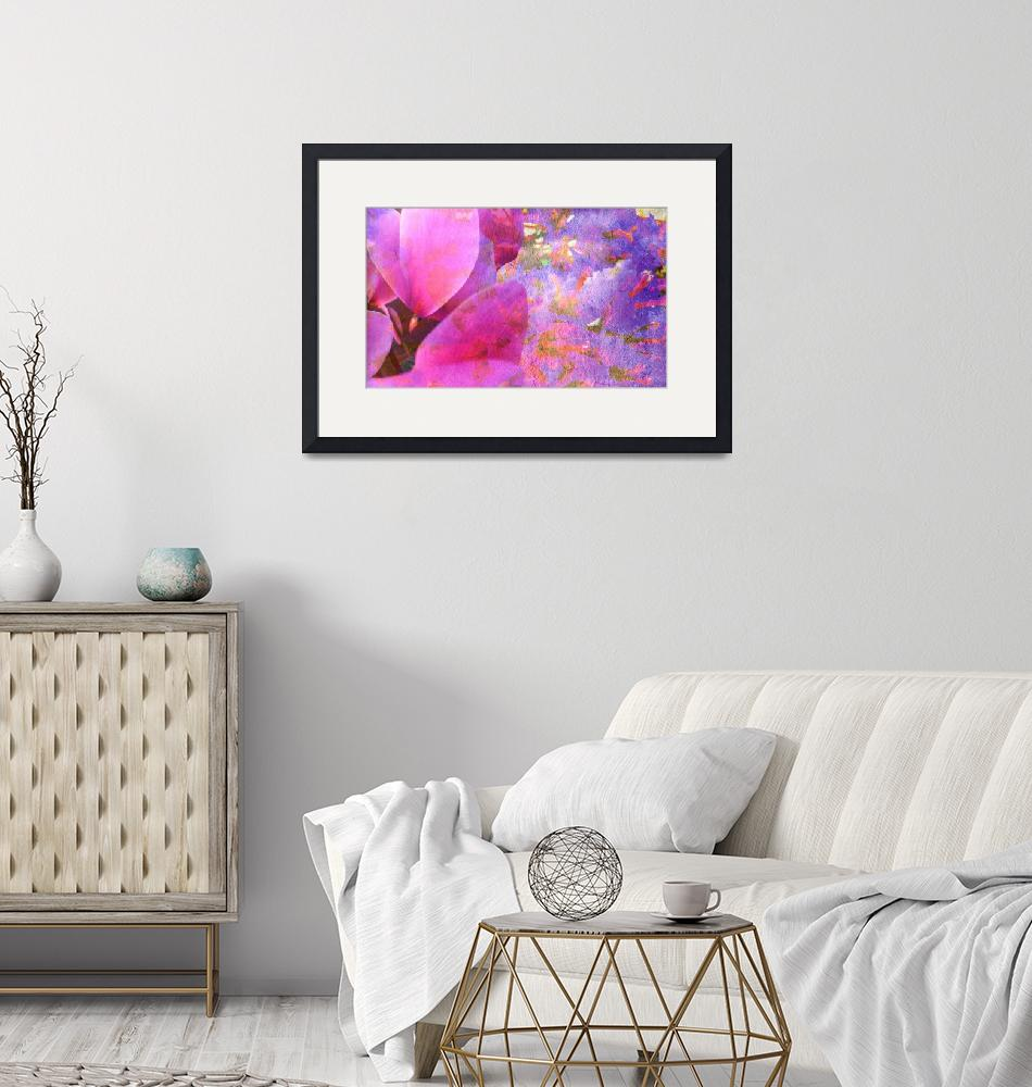 """""""Cyclamen and bougainvillea texture eight""""  (2016) by flowersinabstract"""