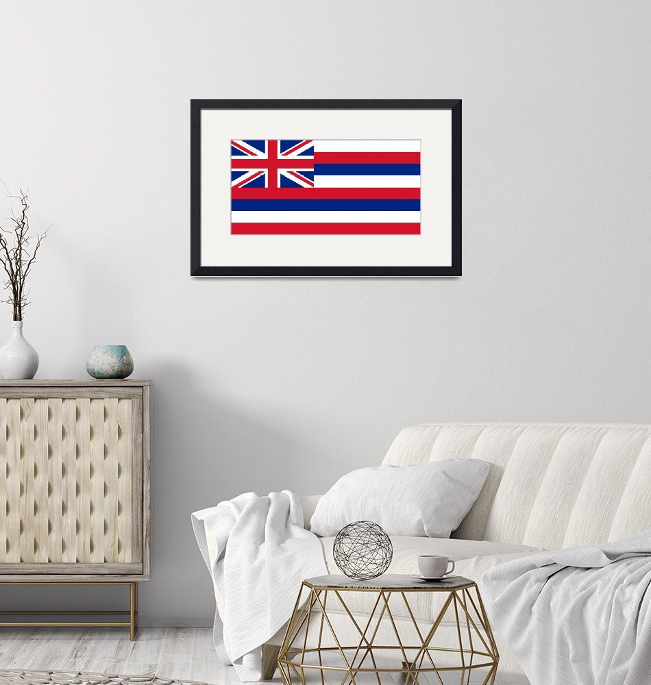 """State Flag of Hawaii Authentic 1-2 version""  (2013) by BruceStanfieldArtist"