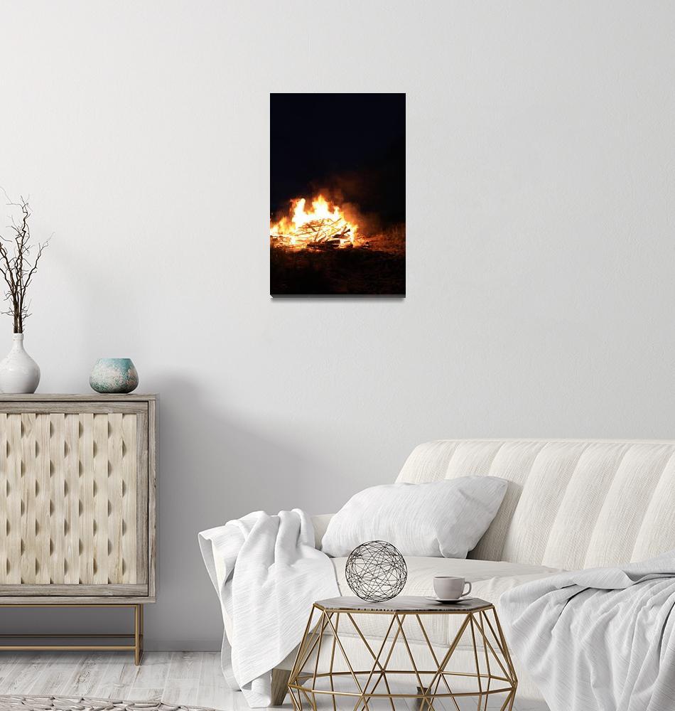 """North Beach Bonfire 19""  (2009) by dmarshall"