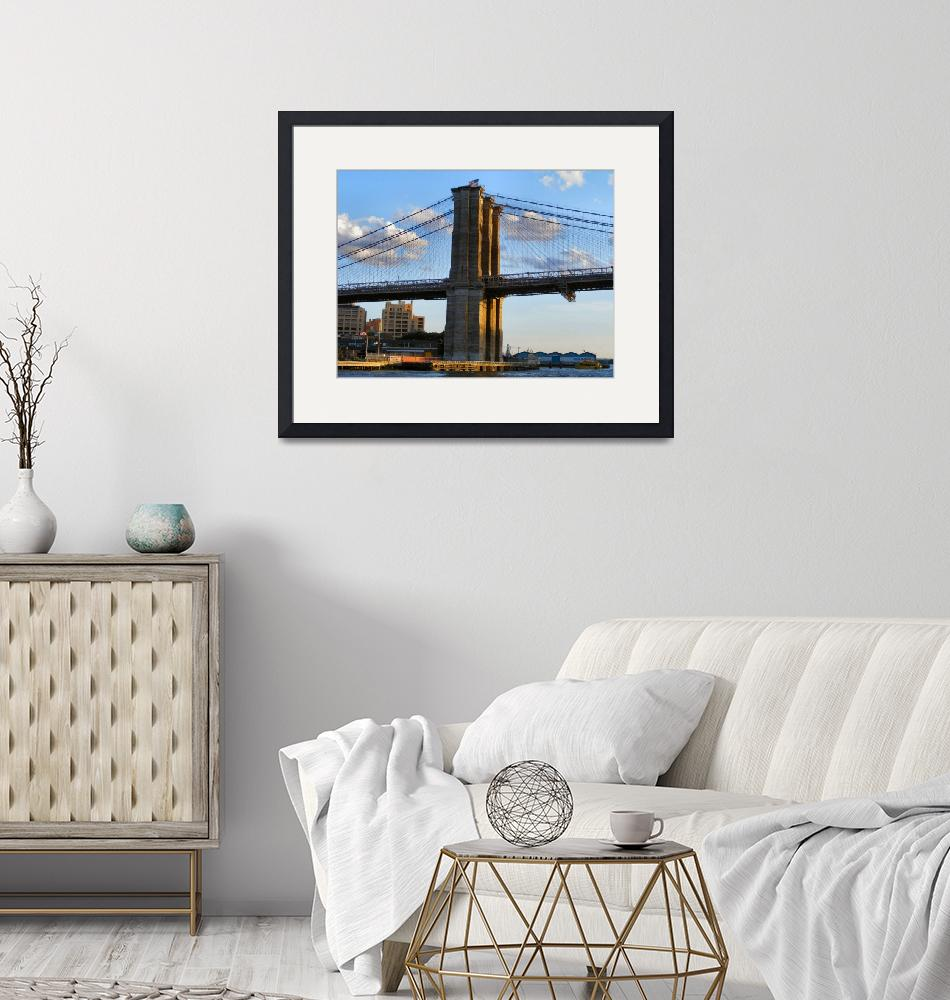 """Closeup of the Brooklyn Bridge""  by brooklyn"