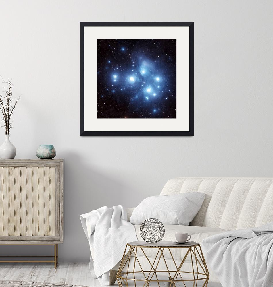 """""""The Pleiades Star Cluster""""  by stocktrekimages"""