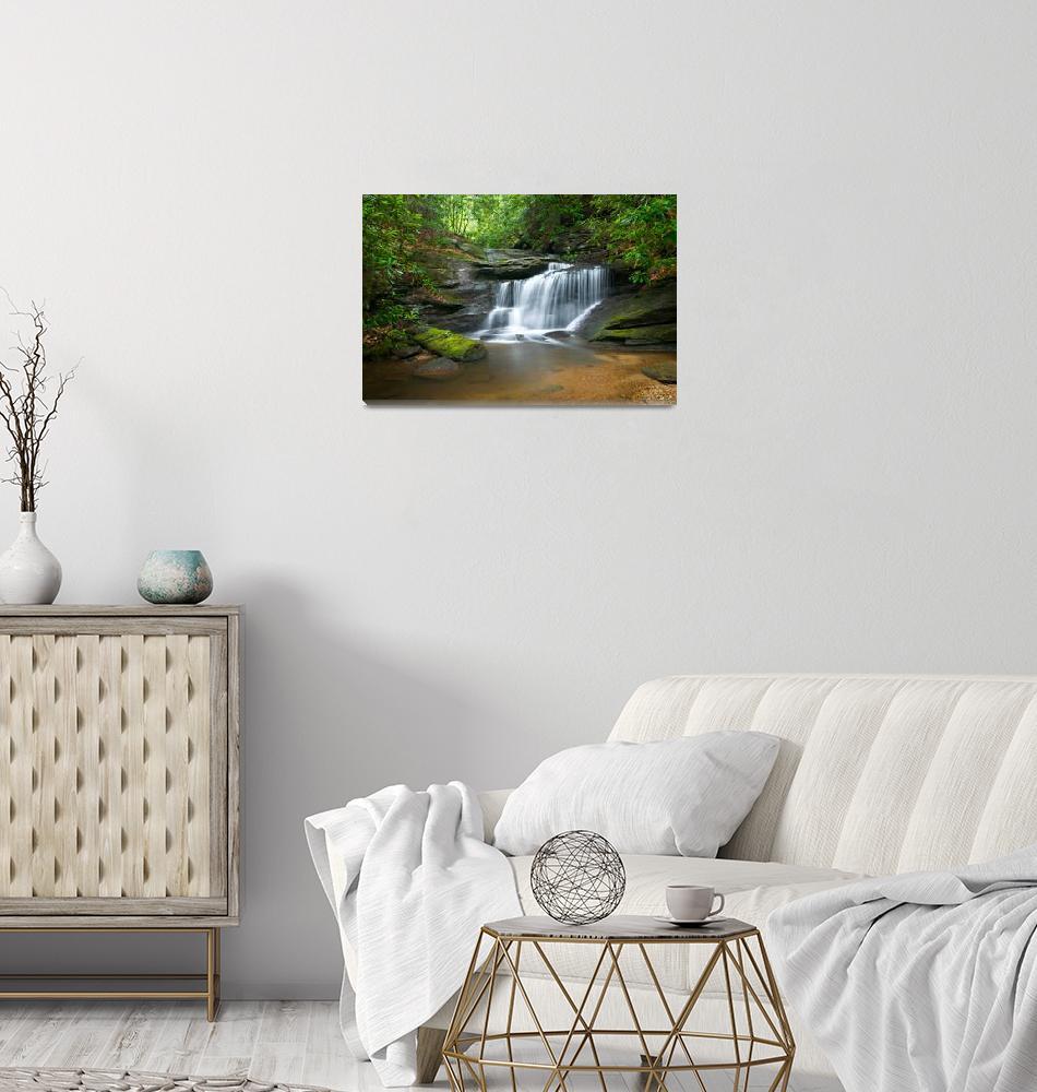 """Hidden Falls - WNC Waterfall Photography""  (2010) by DAPhoto"