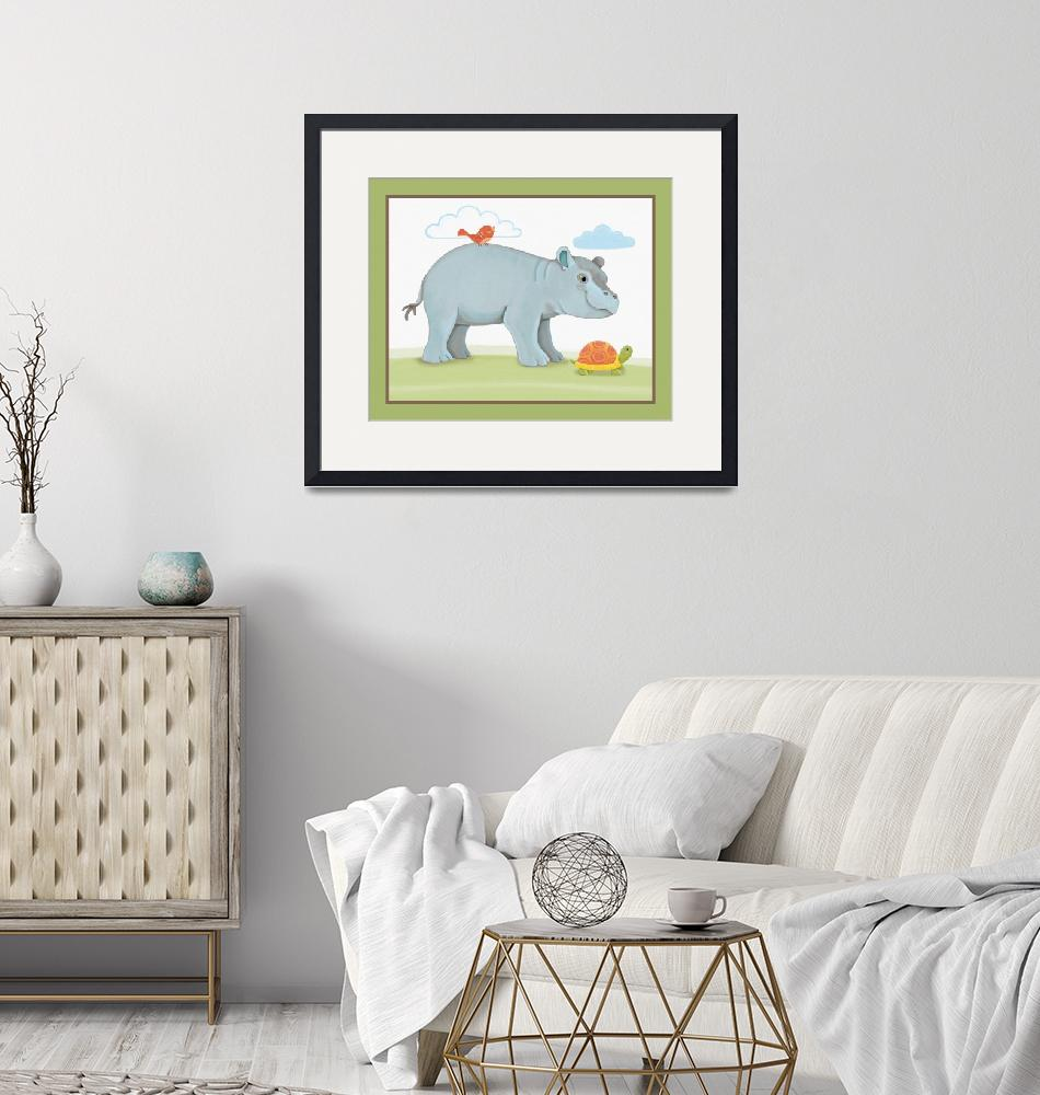 """Giraffe Safari Collection - Hippopotamus""  (2019) by Littlepig"