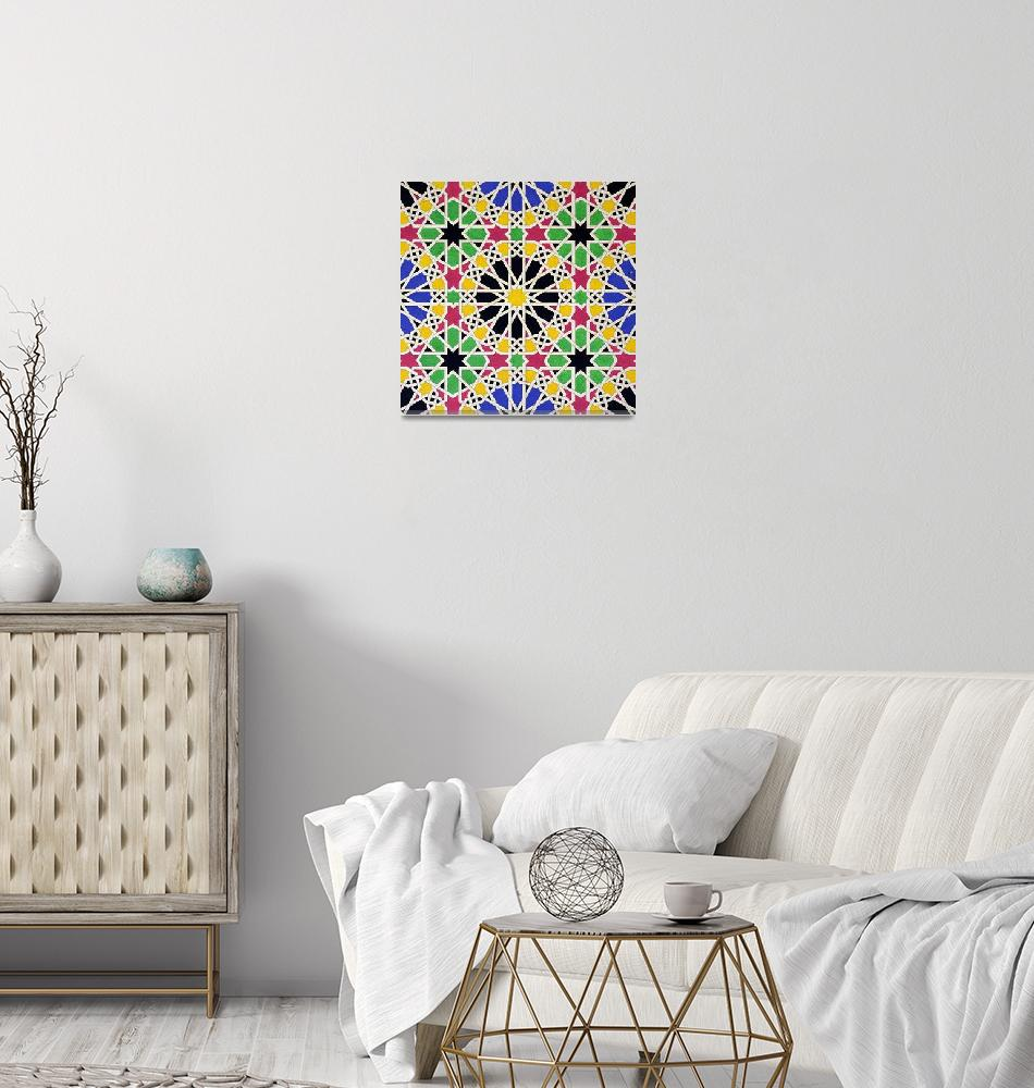 """Mosaic design from the Alhambra""  by fineartmasters"