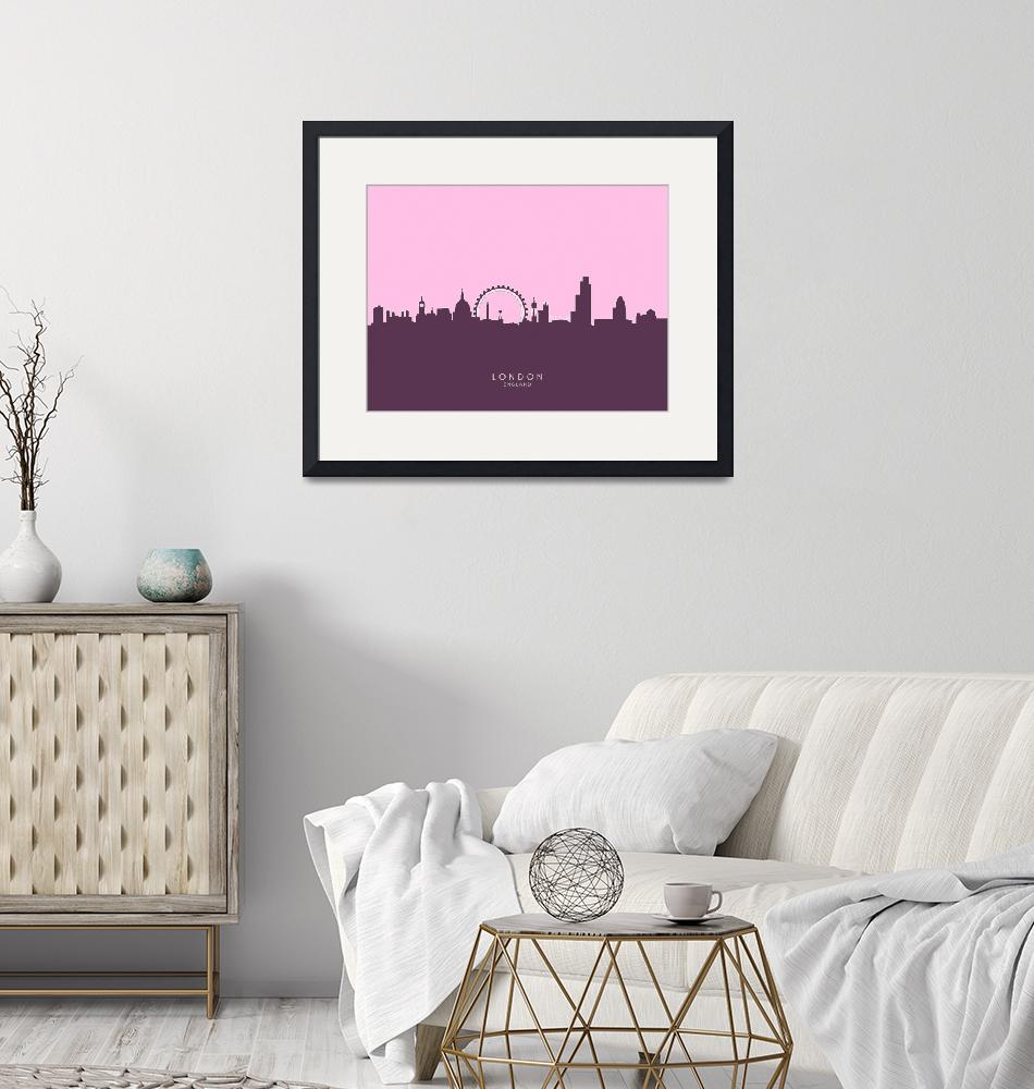 """London England Skyline""  (2014) by ModernArtPrints"