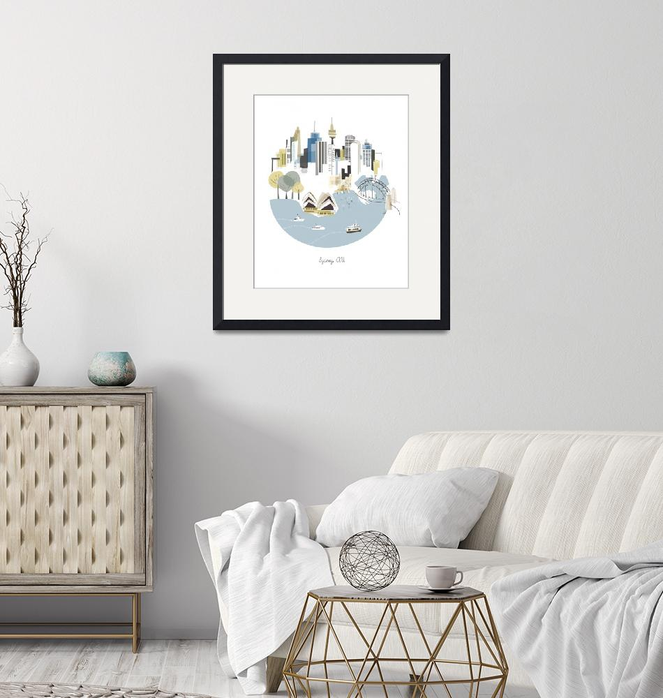 """""""Sydney Modern Cityscape Illustration""""  by AlbieDesigns"""