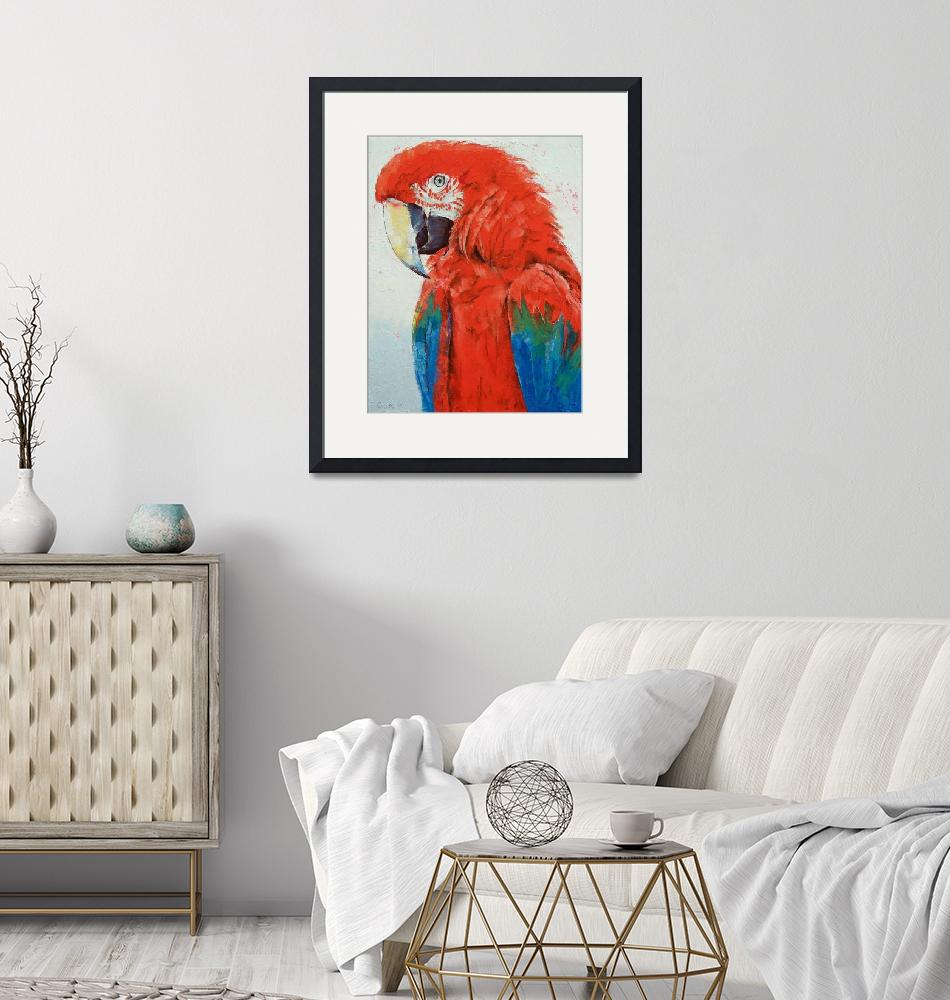 """""""Crimson Macaw""""  by creese"""