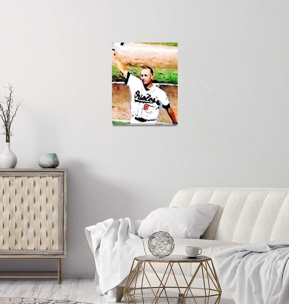 """Cal Ripken Jr MLB Baltimore Orioles Art""  (2012) by artofvela"
