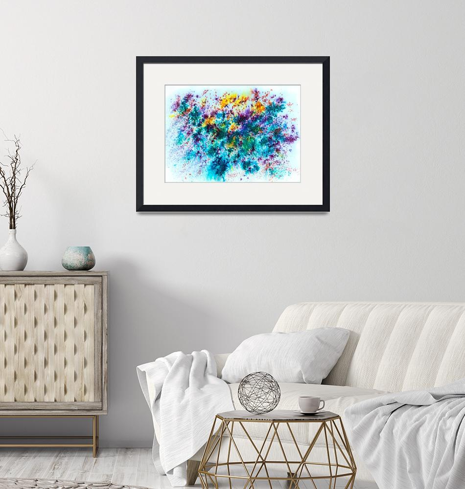 """Watercolor and mixed media abstract""  by Art_by_Lilia"