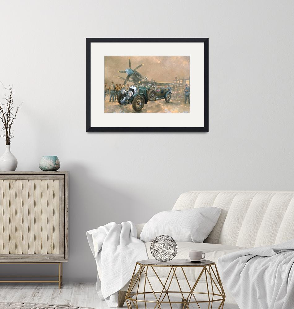 """""""Bentley and Spitfire by Peter Miller""""  by fineartmasters"""