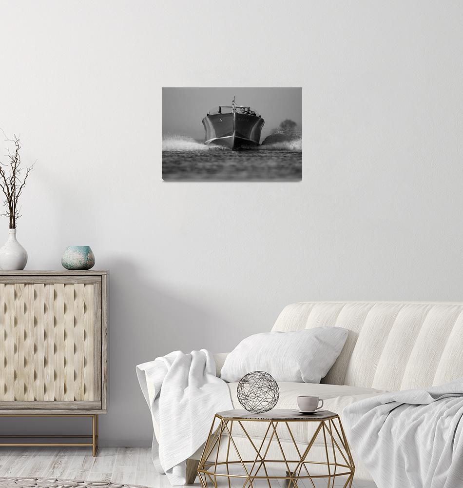 """Black & White Series-Wood Boat 5""  by dteetor2"