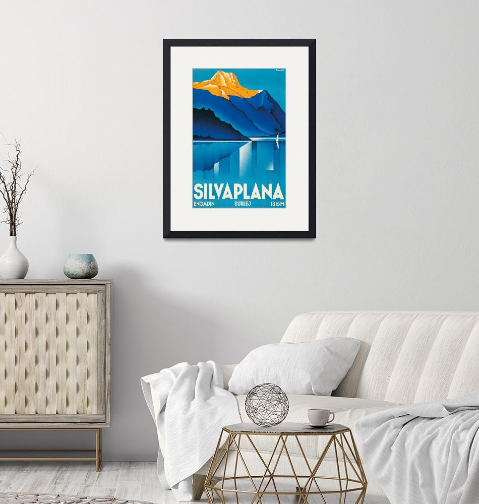 """""""Silvaplana Vintage Travel Poster""""  by FineArtClassics"""
