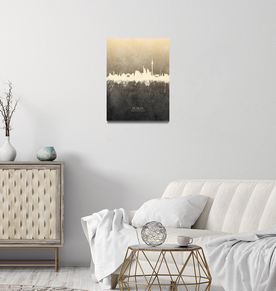 """Berlin Germany Skyline""  (2019) by ModernArtPrints"