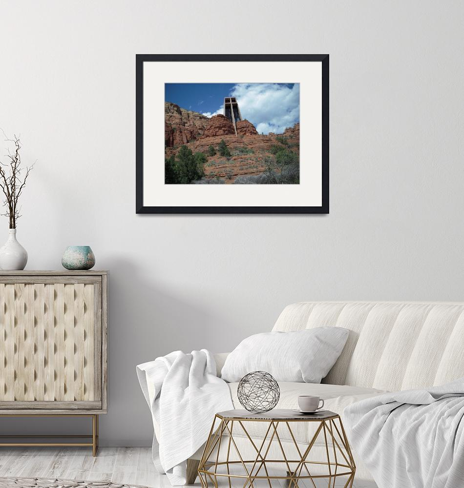 """Chapel built into Red rocks  of Sedona""  (2007) by decal5"