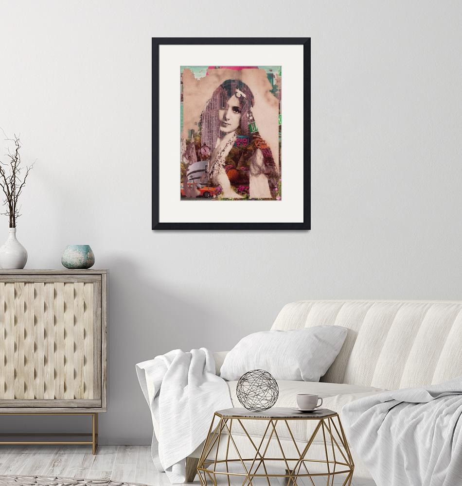 """""""Vintage Woman Built By New York City 2""""  by RubinoFineArt"""