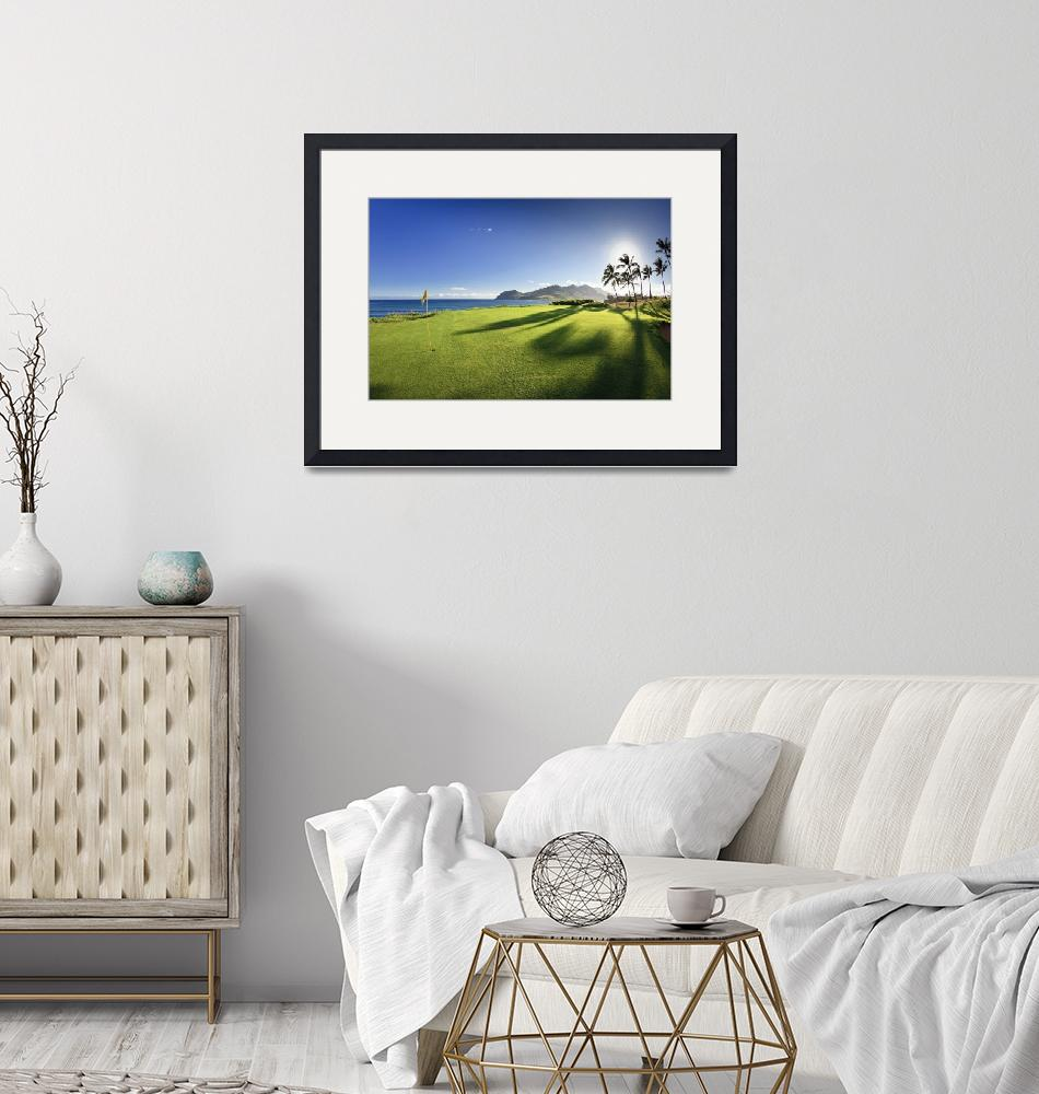 """""""Golf flag in a golf course"""" by Panoramic_Images"""