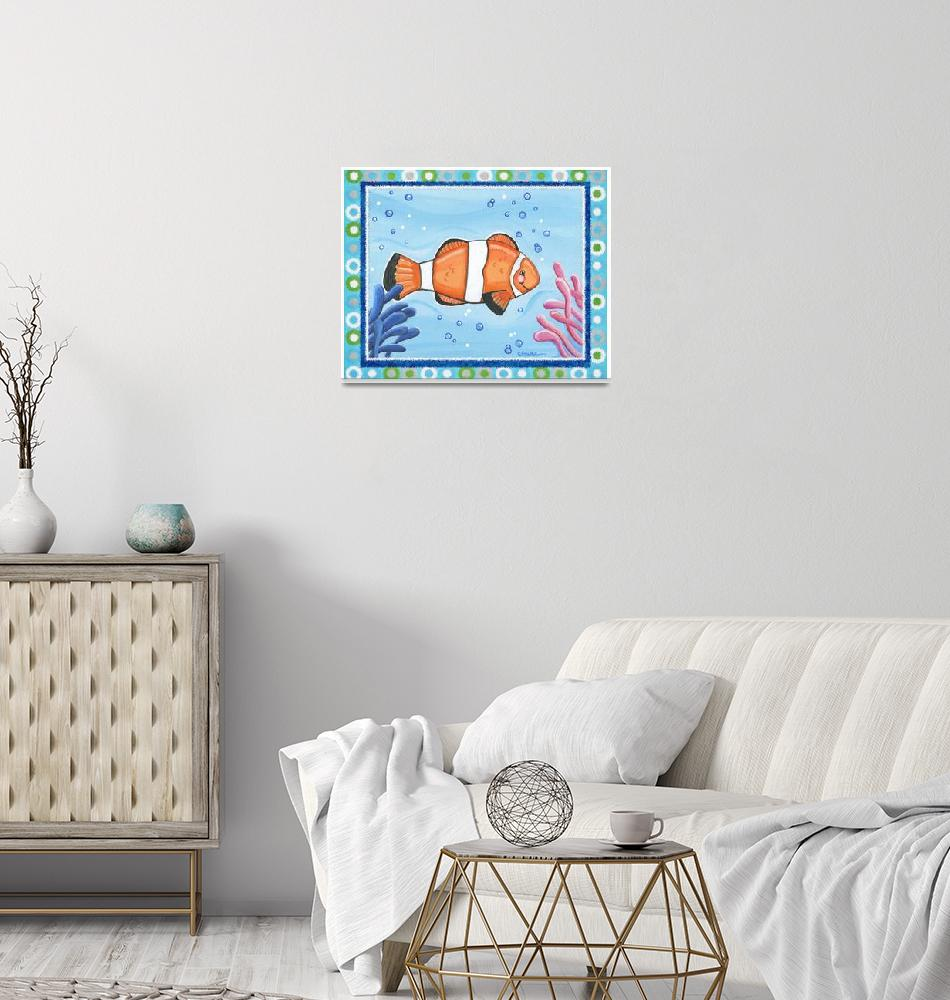 """Clown Fish (with border)""  (2008) by Littlepig"