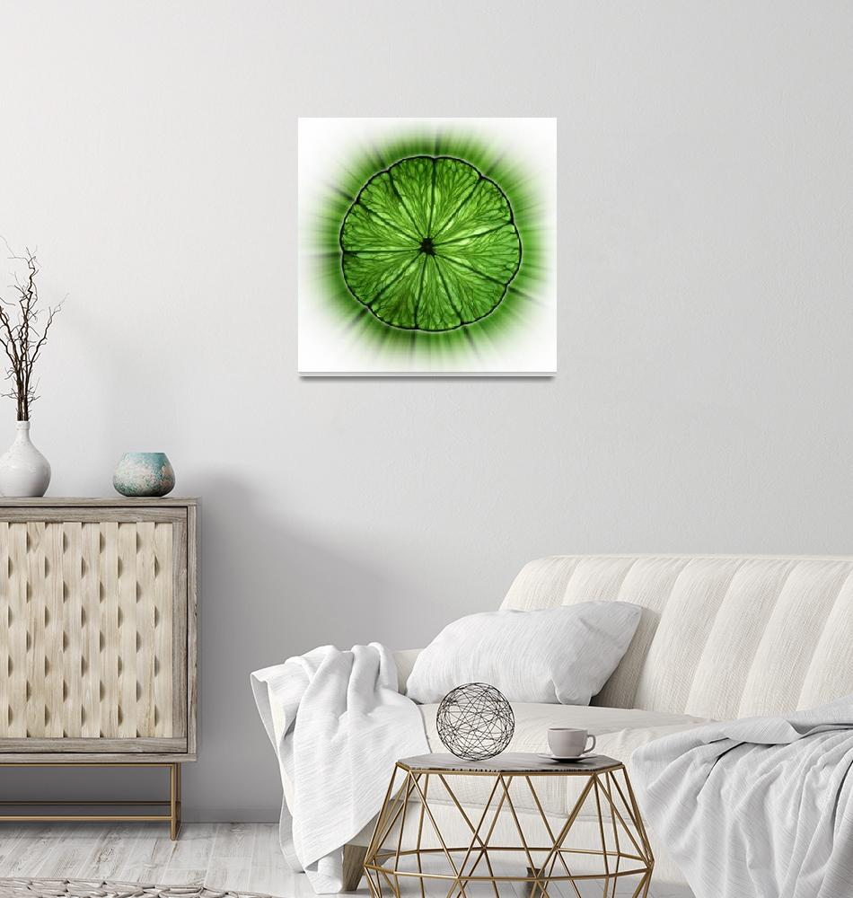 """""""Lime Glow /white""""  (2010) by AlexanderVoss"""