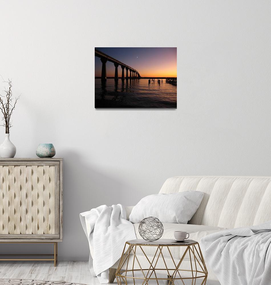"""PaxRiverBridge&Dock@Sunset1""  by macfanmd"