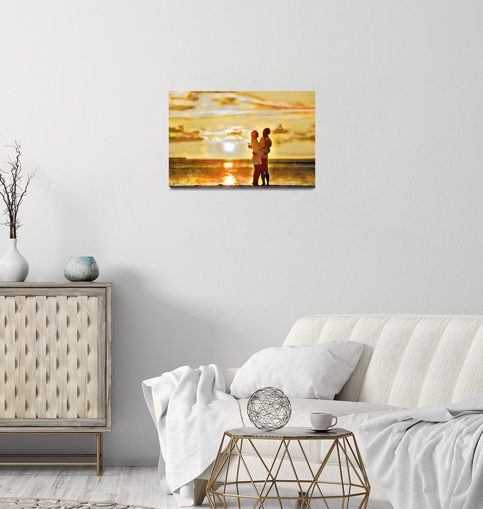 """Wedding Sunset""  (2018) by philosophizerx"