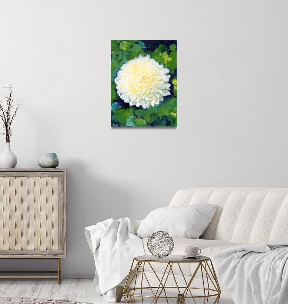 """White Chrysanthemum by RD Riccoboni""  (2009) by RDRiccoboni"