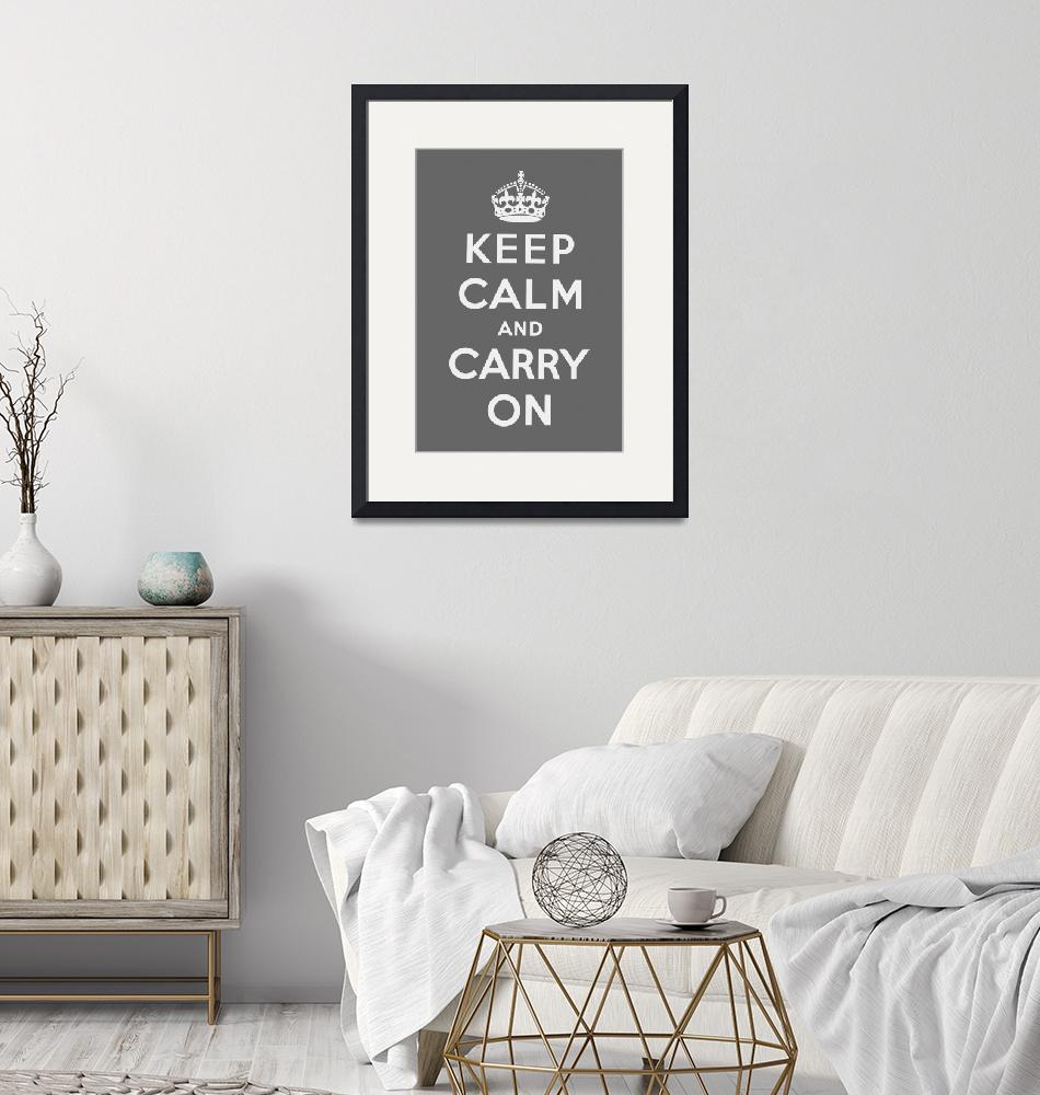 """""""Grey Keep Calm And Carry On 1""""  by oldies"""