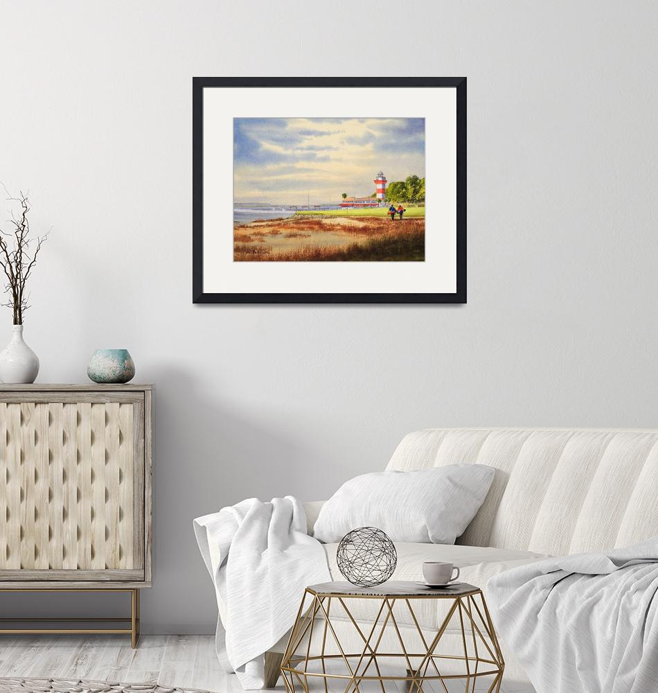 """""""Harbour Town Golf Course Painting""""  (2018) by billholkham"""