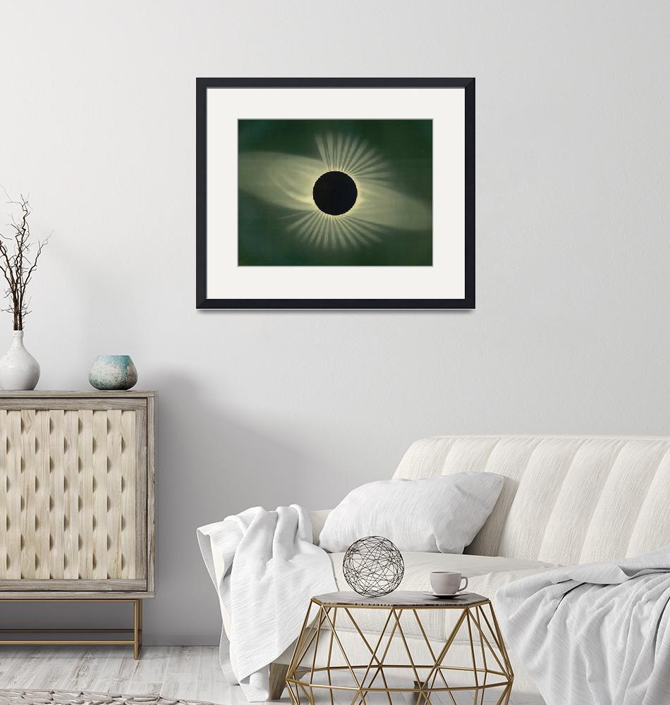 """""""Total Eclipse of the Sun Vintage Art"""" by Prawny"""