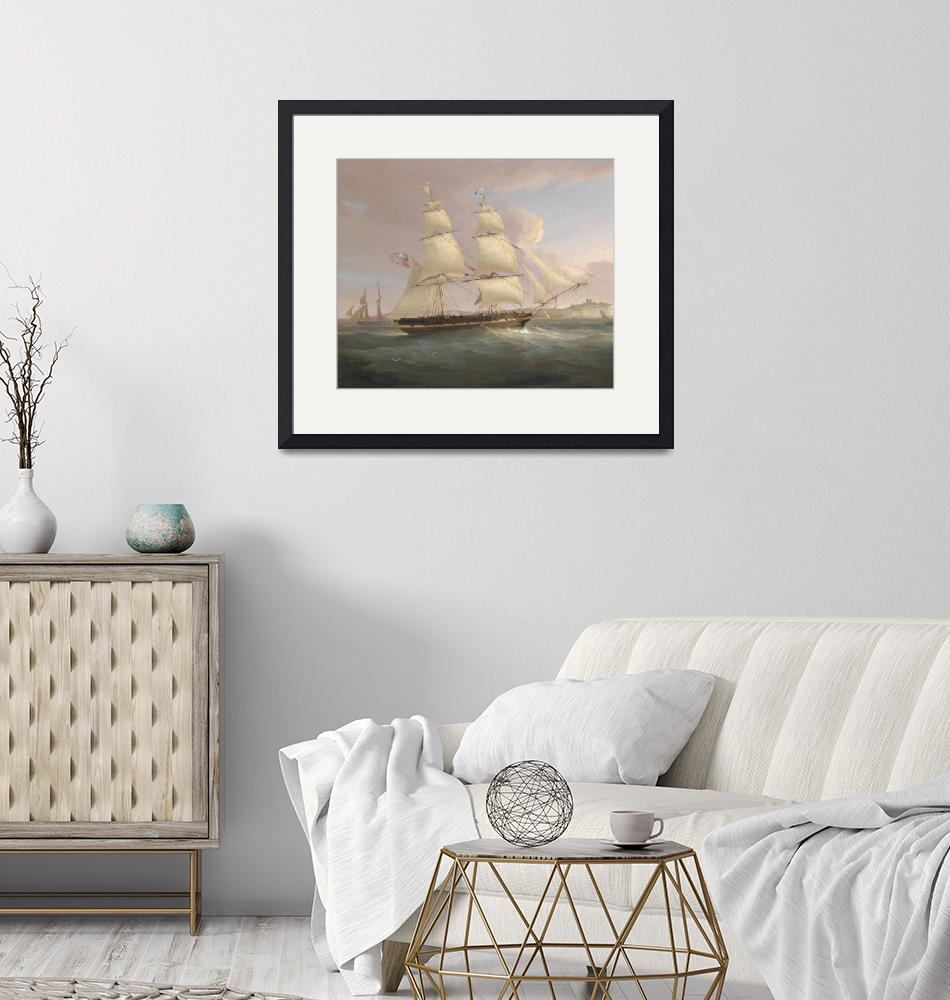 """""""Vintage Fleet of Sailboats Painting (1845)""""  by Alleycatshirts"""